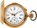 Timepieces:Pocket (pre 1900) , Le Phare 14k Gold Quarter Hour Repeater For Restoration Lot to benefit the Texas Scottish Rite Children's Hospital. ...