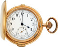 Timepieces:Pocket (post 1900), Swiss 14k Gold Repeater With Chronograph For Repair Lot to benefit the Texas Scottish Rite Children's Hospital. ...
