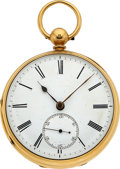 Timepieces:Pocket (pre 1900) , Grant London Massive 18k Gold Duplex Fusee For Repair Lot tobenefit the Texas Scottish Rite Children's Hospital. ...