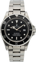 Timepieces:Wristwatch, Rolex, Oyster Perpetual Sea Dweller, Stainless Steel, Ref. 16600, Circa 2002. ...