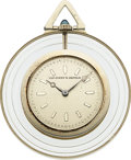 Timepieces:Pocket (post 1900), Van Cleef & Arpels Rare Diamond, White Gold & Rock Crystal Pocket Watch. ...