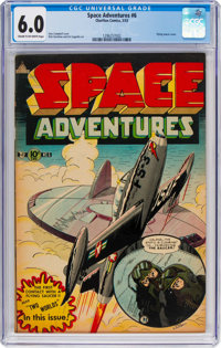 Space Adventures #6 (Charlton, 1953) CGC FN 6.0 Cream to off-white pages