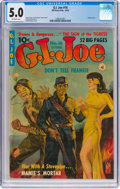 Golden Age (1938-1955):War, G. I. Joe #16 (Ziff-Davis, 1952) CGC VG/FN 5.0 Off-white pages....