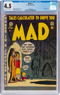 Golden Age (1938-1955):Humor, MAD #1 (EC, 1952) CGC VG+ 4.5 Off-white to white pages....
