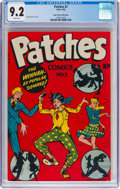 Golden Age (1938-1955):Humor, Patches #2 Mile High Pedigree (Rural Home, 1945) CGC NM- 9.2 White pages....