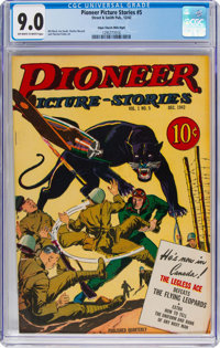 Pioneer Picture Stories #5 Mile High Pedigree (Street & Smith, 1942) CGC VF/NM 9.0 Off-white to white pages