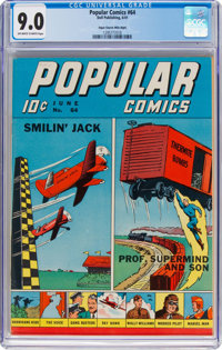 Popular Comics #64 Mile High Pedigree (Dell, 1941) CGC VF/NM 9.0 Off-white to white pages
