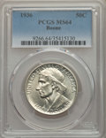 Commemorative Silver, 1936 50C Boone MS64 PCGS. PCGS Population: (762/1315). NGC Census: (475/939). CDN: $150 Whsle. Bid for problem-free NGC/PCG...