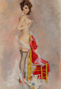 Paintings, Fritz Willis (American, 1907-1979). Lucky Chair. Oil on board. 26 x 17.75 in. (sight). Signed lower center. ...