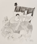 """Other, Al Hirschfeld (American, 1903-2003). Laurel & Hardy's Sweet Dreams, from """"March of the Wooden Soldiers (Babes in Toyland)..."""