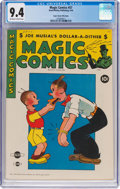 Golden Age (1938-1955):Humor, Magic Comics #57 Mile High Pedigree (David McKay Publications, 1944) CGC NM 9.4 Off-white to white pages....