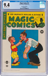 Magic Comics #57 Mile High Pedigree (David McKay Publications, 1944) CGC NM 9.4 Off-white to white pages