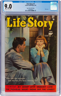 Life Story #1 Mile High Pedigree (Fawcett Publications, 1949) CGC VF/NM 9.0 Off-white to white pages