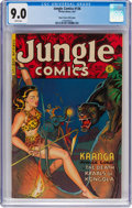 Golden Age (1938-1955):Adventure, Jungle Comics #136 Mile High Pedigree (Fiction House, 1951) CGC VF/NM 9.0 White pages....