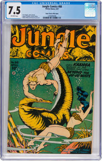 Jungle Comics #88 Mile High Pedigree (Fiction House, 1947) CGC VF- 7.5 Off-white pages