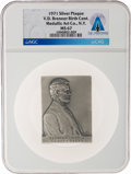 Explorers:Space Exploration, 1971 Abraham Lincoln by Victor D. Brenner Silver Plaque MS67 NGC, Directly From The Armstrong Family Collection™, Cert...