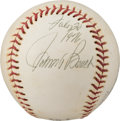 """Explorers:Space Exploration, Cincinnati Reds: Johnny Bench Signed Baseball, Dated on """"Moon Day"""" 1976, Directly From The Armstrong Family Collection™, C..."""
