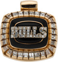 Basketball Collectibles:Others, 1991-92 Chicago Bulls World Championship Pendant Presented to CraigHodges with his Letter of Provenance....