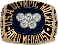 """1980 """"Miracle on Ice"""" USA Olympic Hockey Salesman's Sample Ring"""