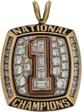 Football Collectibles:Others, 2005-06 Texas Longhorns National Championship Pendant....