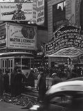 Photographs, Lou Stoumen (American, 1917-1991). Paramount Theater (Times Square, New York), 1940. Gelatin silver, 1977. 12 x 9 inches...