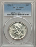 Commemorative Silver, 1936-D 50C Boone MS64 PCGS. PCGS Population: (427/925). NGC Census: (206/620). CDN: $150 Whsle. Bid for problem-free NGC/PC...