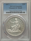 Trade Dollars, 1877 T$1 -- Cleaned -- PCGS Genuine. AU Details. NGC Census: (22/438). PCGS Population: (44/504). CDN: $330 Whsle. Bid for ...