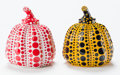 Sculpture, Yayoi Kusama X MoMa. Pumpkin (Red and Yellow) (two works), 2013. Painted cast resin, each. 4 x 3-1/4 x 3-1/4 inches (10.... (Total: 2 Items)