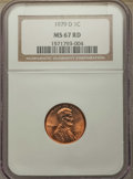 Lincoln Cents, 1979-D 1C MS67 Red NGC. NGC Census: (16/0). PCGS Population: (26/0). ...