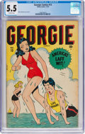 Golden Age (1938-1955):Humor, Georgie Comics #13 (Timely, 1947) CGC FN- 5.5 Off-white pages....