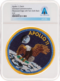 Apollo 11: Neil Armstrong's Personally-Owned Universal Commemorative Mission Insignia Patch Directly Fr