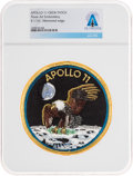 Explorers:Space Exploration, Apollo 11: Neil Armstrong's Personally-Owned Texas Art Embroidery Crew Patch as Worn on Bio-Garments in Quarantine Directl...