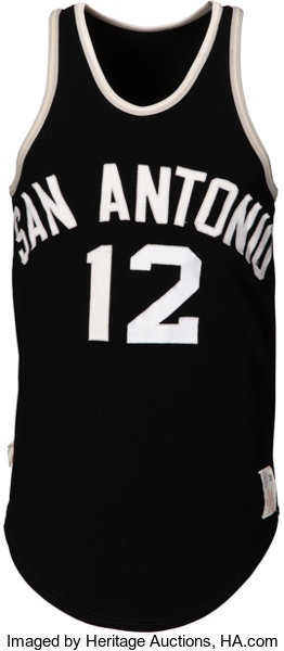 79d638a2b 1975-76 Mike Gale Game Worn San Antonio Spurs (ABA) Jersey....