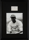Autographs:Others, 1948 Jackie Robinson Signed Cut Signature Display....