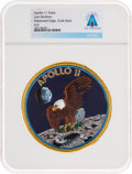 Explorers:Space Exploration, Apollo 11: Neil Armstrong's Personally-Owned Lion Brothers Mission Insignia Patch Directly From The Armstrong Family C...
