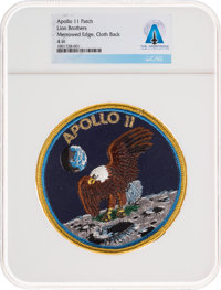 Apollo 11: Neil Armstrong's Personally-Owned Lion Brothers Mission Insignia Patch Directly From The Arm