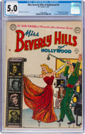 Golden Age (1938-1955):Romance, Miss Beverly Hills of Hollywood #6 (DC, 1950) CGC VG/FN 5.0 White pages....