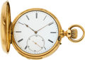Timepieces:Pocket (pre 1900) , Swiss 18k Gold Quarter Hour Repeater Retailed By Patek & Co. ....