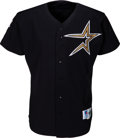 Baseball Collectibles:Uniforms, 1997 Jeff Bagwell Game Worn & Signed Houston Astros Jersey....