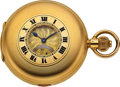 Timepieces:Pocket (post 1900), Tiffany & Co. 18k Gold Carillon Grande Sonnerie Minute Repeating Clockwatch, circa 1910. ...