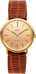 Timepieces:Wristwatch, Omega 18k Rose Gold De Ville. ...