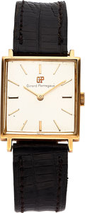 Timepieces:Wristwatch, Girard Perregaux 18k Gold Wristwatch. ...