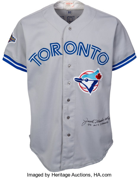 3309a13fc00a8 1993 Jack Morris World Series Game Worn   Signed Toronto