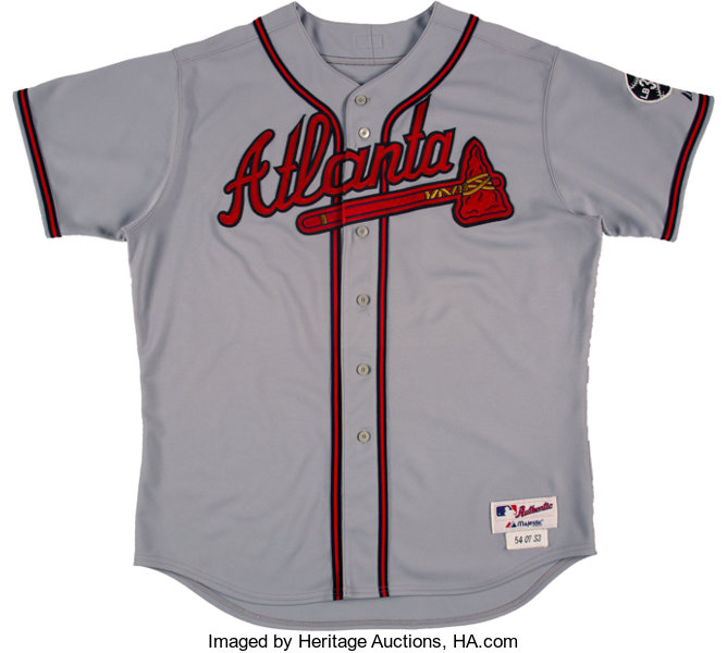 super popular 3b6ad e7010 2007 Bobby Cox Game Worn & Signed Atlanta Braves Jersey ...