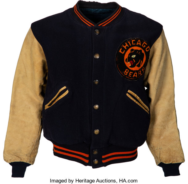 582e4d9315a ... Football Collectibles:Uniforms, Early 1940's George Halas Game Worn  Chicago Bears Sideline Jacketwith Bears ...