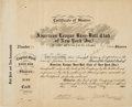Baseball Collectibles:Others, 1923 New York Yankees Stock Certificate Signed by Jacob Ruppert & Tillinghast L'Hommedieu Huston....