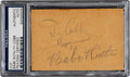 Baseball Collectibles:Others, Circa 1940 Babe Ruth & Ty Cobb Dual-Signed Cut Signatures, PSA/DNA Authentic....