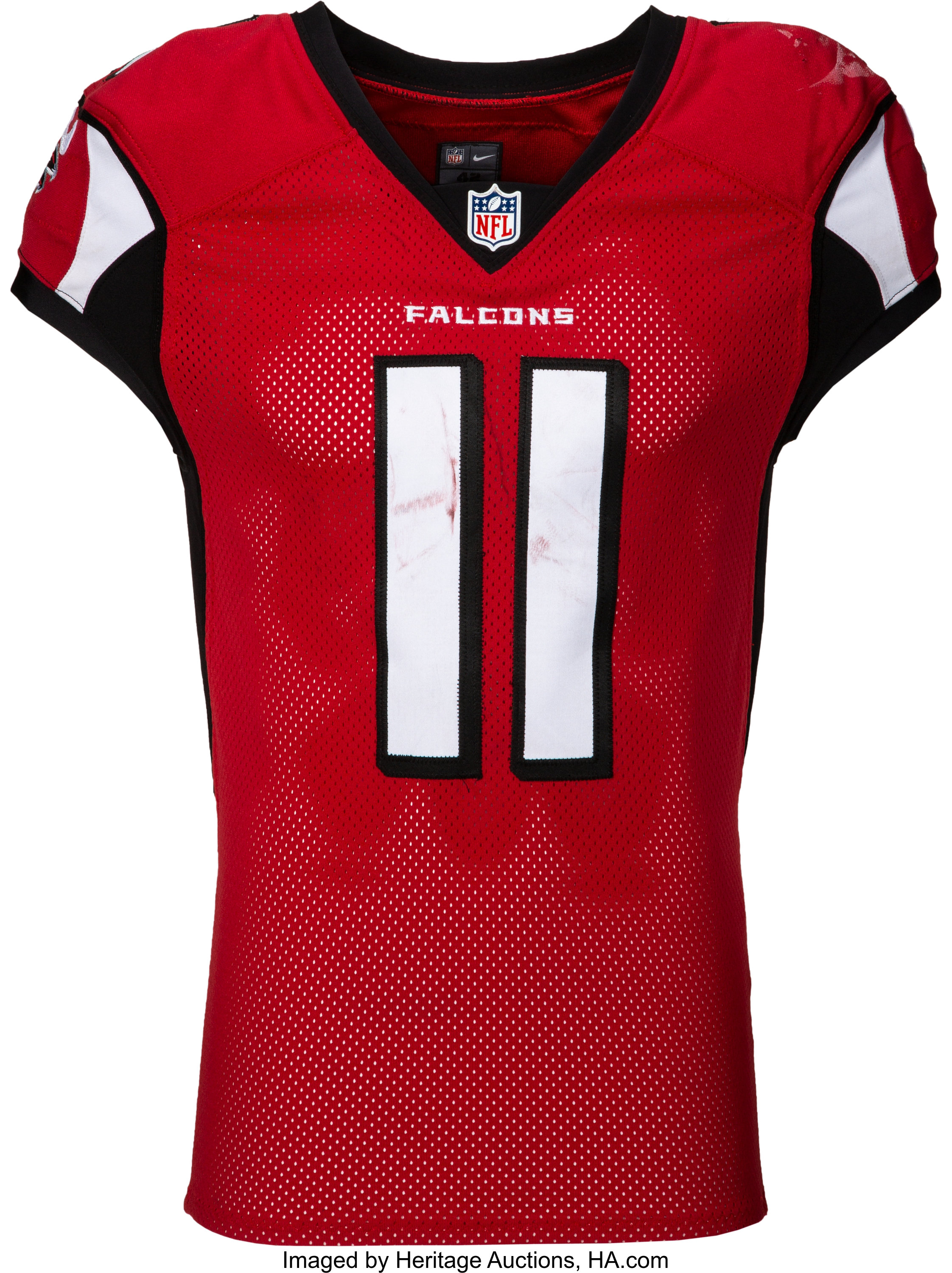 2016 Julio Jones Game Worn Unwashed Atlanta Falcons Jersey Photo Lot 50730 Heritage Auctions