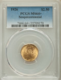 Commemorative Gold, 1926 $2 1/2 Sesquicentennial Quarter Eagle MS64+ PCGS. PCGSPopulation: (4490/2242 and 113/42+). NGC Census: (2619/1150 and...