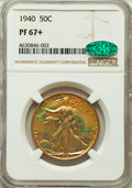 1940 50C PR67+ NGC. CAC. NGC Census: (357/55 and 6/0+). PCGS Population: (359/37 and 20/2+). CDN: $700 Whsle. Bid for pr...